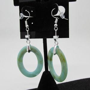 WG Plated Oval Elegance Earrings